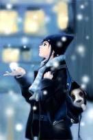 Anime snow
